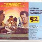 92 IN THE SHADE ~ '75 Half Sheet Movie Poster ~ PETER FONDA / WARREN OATES / MARGOT KIDDER