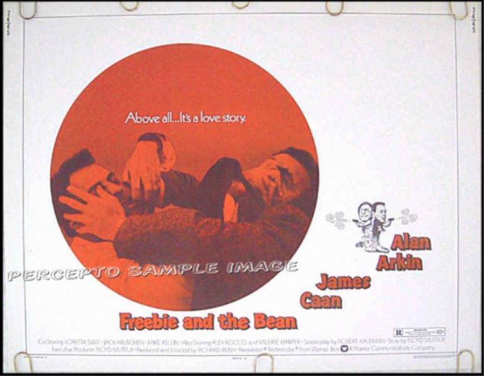 FREEBIE AND THE BEAN ~ '74 Half Sheet Movie  Poster ~ Alan ARKIN / James CAAN