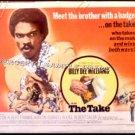 The TAKE ~ '71 Orig Half Sheet Movie Poster ~  BILLY DEE WILLIAMS / EDDIE ALBERT / FRANKIE AVALON