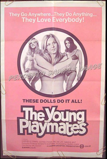 YOUNG PLAYMATES ~ '74 Sexy SoftCore 1 Sheet Movie Poster ~ GABRIELLE DRAKE / VAL GUEST / ME ME LAY