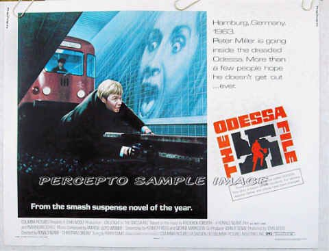 THE ODESSA FILE ~ Ex-Cond '74 Half Sheet Movie Poster ~ JON VOIGHT