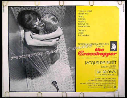 THE GRASSHOPPER ~ Sexy '70 Half Sheet Movie Poster ~ JACQUELINE BISSET / JOSEPH COTTEN / JIM BROWN