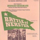BATTLE OF NERETVA ~ Ex-Cond Limited Edition '70 Movie Soundtrack Vinyl LP ~ BERNARD HERRMANN
