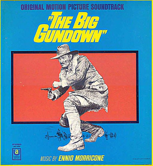 BIG GUNDOWN ~ Out-Of-Print '68 Movie Soundtrack Vinyl LP ~ ENNIO MORRICONE