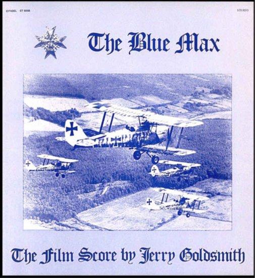 The BLUE MAX ~ Near-Mint '66 Movie Soundtrack Vinyl LP ~ JERRY GOLDSMITH