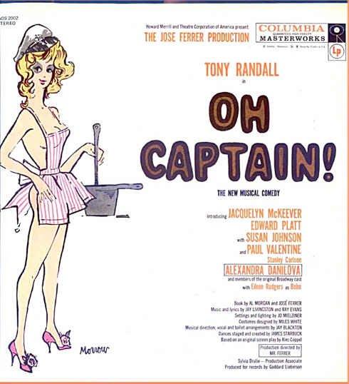 OH CAPTAIN! ~ NR-MINT '58 Broadway Cast  Vinyl LP ~ TONY RANDALL / JACQUELYN McKEEVER
