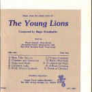 YOUNG LIONS ~ Nr-Mint '58 Movie Soundtrack Vinyl LP ~  HUGO FRIEDHOFER