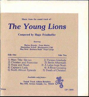 YOUNG LIONS ~ Nr-Mint '58 Movie Soundtrack Vinyl LP ~  HUGO FRIEDHOFER