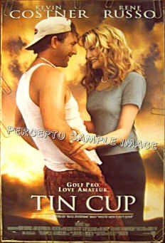 TIN CUP ~ Orig '96 1-Sheet GOLF Movie Poster ~ KEVIN COSTNER / RENEE RUSSO / CHEECH MARIN