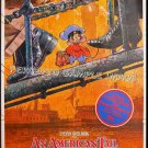 AN AMERICAN TAIL ~ Rare '87 1-Sheet CARTOON ART Movie Poster ~ STEVEN SPIELBERG