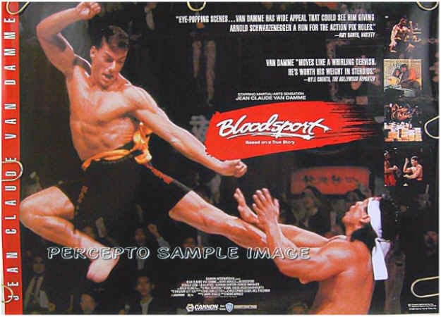 BLOODSPORT ~ Rare '88 Movie Promo Poster ~ JEAN-CLAUDE VAN DAMME