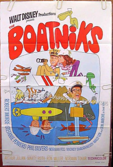 BOATNIKS ~ Orig '77 WALT DISNEY 1-Sheet Movie Poster ~ STEFANIE POWERS / ROBERT MORSE / PHIL SILVERS