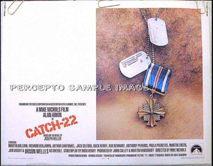 CATCH 22 ~ Nr-Mint Orig '70 Half-Sheet Movie Poster ~ ALAN ARKIN / ANTHONY PERKINS / ORSON WELLES