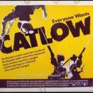 CATLOW ~ '71 Half-Sheet Western Movie Poster ~ YUL BRYNNER / RICHARD CRENNA / LEONARD NIMOY