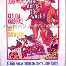 CIRCUS WORLD  ~ '85 Promo Movie Poster ~  JOHN WAYNE / RITA HAYWORTH / CLAUDIA CARDINALE