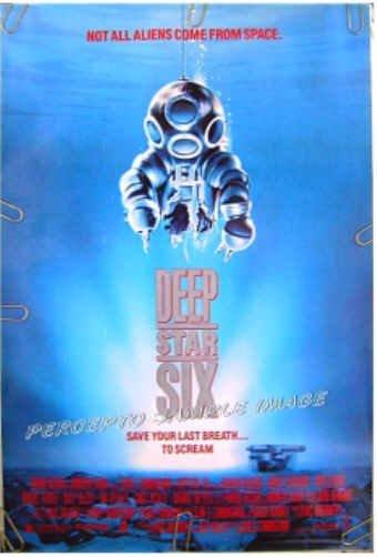 DEEP STAR SIX ~ '89 HORROR 1-Sheet Movie Poster ~ GREG EVIGAN / MIGUEL FERRER / DEEP SEA DIVING