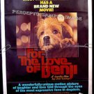 FOR THE LOVE OF BENJI ~  '77 1-Sheet PUPPY Movie Poster ~ ED NELSON / JOE CAMP / PATSY GARRETT