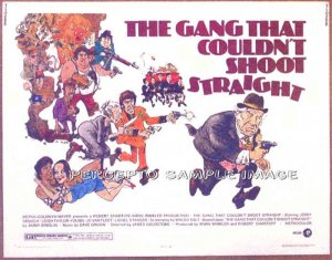 GANG THAT COULDN'T SHOOT STRAIGHT ~ '71 Half-Sheet Movie Poster ~ MORT DRUCKER Art / JERRY ORBACH