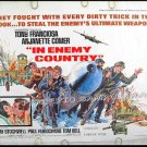 IN ENEMY COUNTRY ~ '68 WWII Half-Sheet Movie Poster ~ TONY FRANCIOSA / ANJANETTE COMER