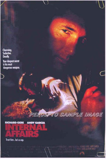 INTERNAL AFFAIRS ~ Ex-Cond '89 1-Sheet Movie Poster ~ RICHARD GERE / ANDY GARCIA