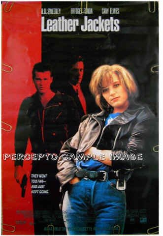 LEATHER JACKETS ~ RARE SEXY '92 1-Sheet Movie Poster ~ BRIDGET FONDA / CARY ELWES / D B SWEENEY