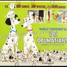 101 DALMATIANS ~ Orig '69 Half-Sheet Movie Poster ~ WALT DISNEY ANIMATION / CARTOON CLASSIC
