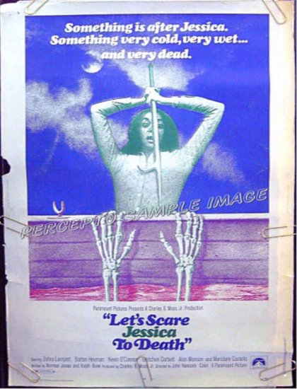 LET'S SCARE JESSICA TO DEATH ~ Rare Size '71 30x40 Vampire Movie Poster ~ ZORAH LAMPERT
