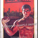 LOW BLOW ~ RARE! '86 1-Sheet Action Beefcake Movie Poster ~ TROY DONOHUE / LEO FONG
