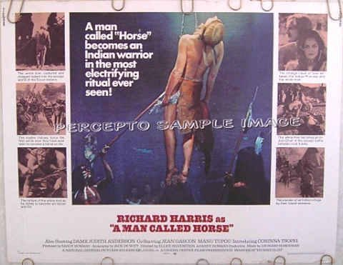 A MAN CALLED HORSE ~ Rare-Size '70 Half-Sheet Movie Poster ~ RICHARD HARRIS / DAME JUDITH ANDERSON