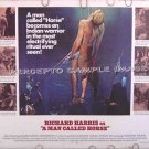 A MAN CALLED HORSE ~ Rare-Size '70 Half-Sheet Movie Poster ~ RICHARD HARRIS / DAME JUDITH ANDERSON