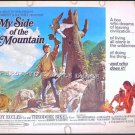 MY SIDE OF THE MOUNTAIN ~ Orig '68 Half-Sheet Movie Poster ~ THEODORE BIKEL
