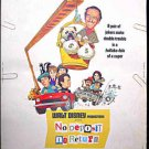NO DEPOSIT NO RETURN ~ Rare-Size 30x40 WALT DISNEY Movie Poster ~ DON KNOTTS / BARBARA FELDON