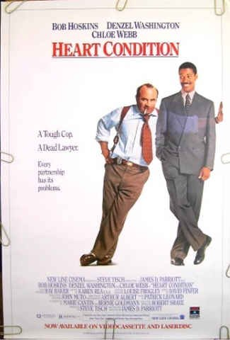 HEART CONDITION ~ '90 1 Sheet Movie Poster ~ BOB HOSKINS / DENZEL WASHINGTON