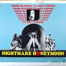 NIGHTMARE HONEYMOON ~ 1973 Original Half Sheet HORROR Movie Poster ~ DACK RAMBO / PAT HINGLE