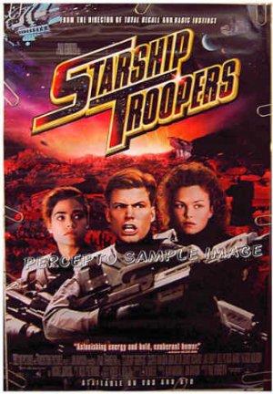 STARSHIP TROOPERS ~ '97 RARE STYLE SCI FI Movie Poster ~ CASPER VAN DIEN / DENISE RICHARDS