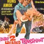 INCREDIBLE 2 HEADED TRANSPLANT ~ '71 AIP Half Sheet Movie Poster ~ Munsters PAT PRIEST / BRUCE DERN