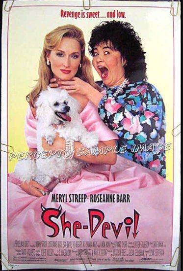 SHE DEVIL ~ Ex-Cond Rolled '89 1 Sheet Movie Poster ~ ROSEANNE BARR / MERYL STREEP