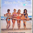 WHERE THE BOYS ARE ~ '84 Sexy RARE SIZE Beach Movie Poster ~ LISA HARTMAN