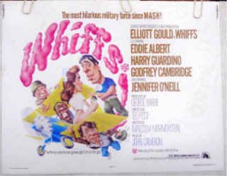 WHIFFS ~ RARE SIZE '75 Half-Sheet Movie Poster ~ ELLIOTT GOULD / EDDIE ALBERT / JENNIFER O'NEILL