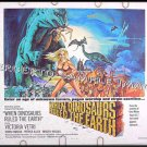 WHEN DINOSAURS RULED THE EARTH ~ '71 SCI-FI Half-Sheet Movie Poster ~ Sexy VICTORIA VETRIE