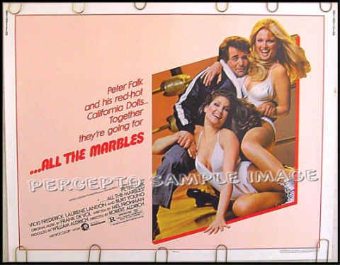 ALL THE MARBLES ~ '81 Half-Sheet Movie Poster ~ PETER FALK / LADIES OF WRESTLING / ROBERT ALDRICH