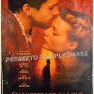 SHAKESPEARE IN LOVE ~ '98 1-Sheet TEASER Movie Poster ~ GWYNETTH PALTROW / JOSEPH FEINNES