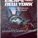 ESCAPE FROM NEW YORK ~ '94 1-Sheet Movie Poster ~ KURT RUSSELL / ADRIENNE BARBEAU / JOHN CARPENTER