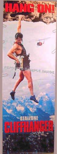 CLIFFHANGER ~ Rare 6 Foot Movie Poster Banner ~ SYLVESTER STALLONE / 1993 MOUNTAIN CLIMBING