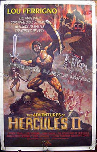 HERCULES II  ~ '84 1-Sheet Beefcake Movie Poster~ Bodybuilder LOU FERRIGNO