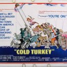 COLD TURKEY ~ '71 Half-Sheet CIGARETTE COMEDY Movie Poster ~ DICK VAN DYKE / BOB NEWHART