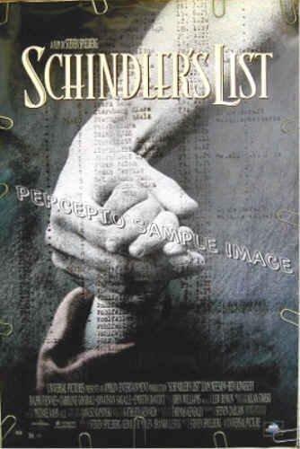 SCHINDLER'S LIST ~ '93 1-Sheet Movie Poster ~ STEVEN SPIELBERG / LIAM NEESON