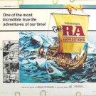 The RA EXPEDITIONS ~ '74 Half-Sheet Movie Poster ~ THOR HYERDAHL / Sea & Sailing Documentary