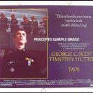 TAPS ~ '81 Rebel Cadets Half-Sheet Movie Poster ~ TIMOTHY HUTTON / GEORGE C SCOTT