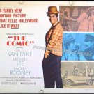 THE COMIC ~ '69 Half-Sheet Movie Poster ~ DICK VAN DYKE / MICKEY ROONEY / MICHELE LEE / CARL REINER